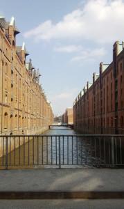 Hamburg Altstadt Speicherstadt Fleet