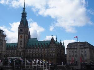 Hamburg Altstadt Rathaus von Alsterarkaden