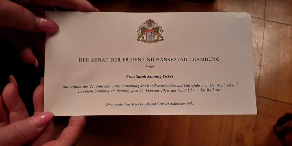 Senatsempfang im Hamburger Rathaus