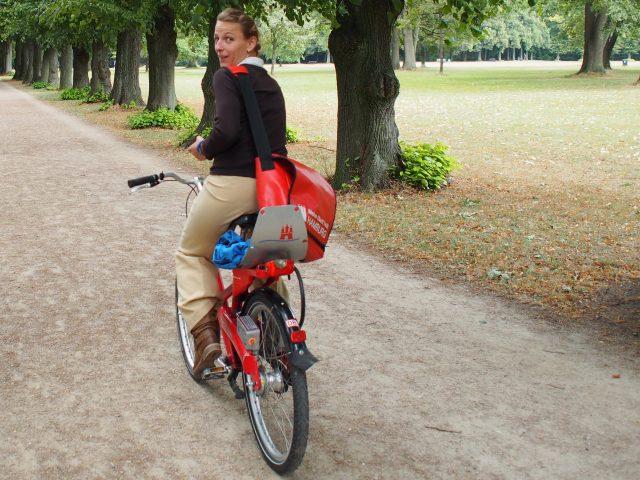 Hamburgs Grün mit dem Rad