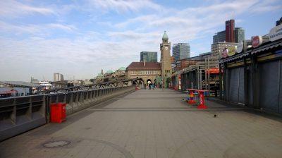 Hamburg Neustadt Landungsbrücken an der Waterkant