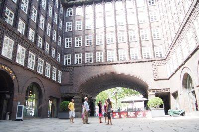 Hamburg Chilehaus Innenhof